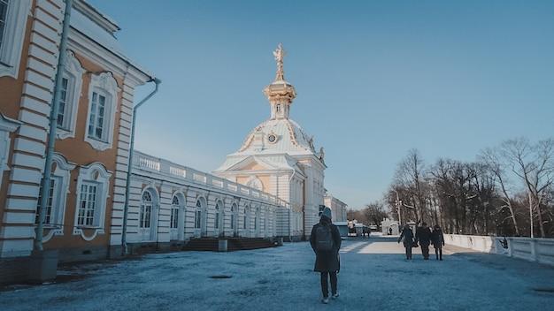 Palacio de nieve arquitectura palacio de san petersburgo rusia azul