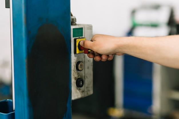 Palanca giratoria manual en locklift
