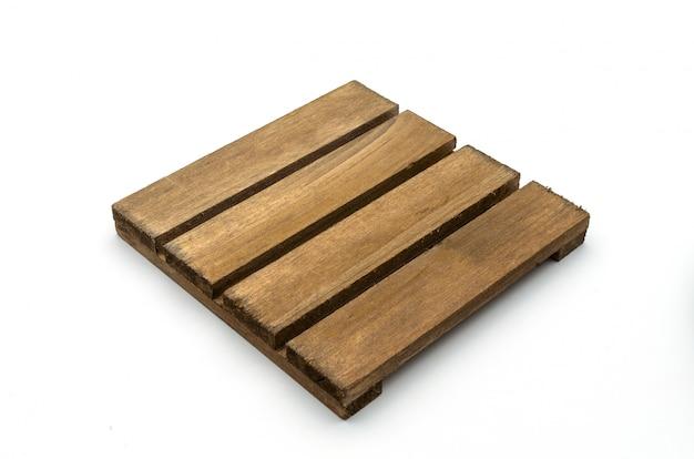 Una paleta de madera aislada