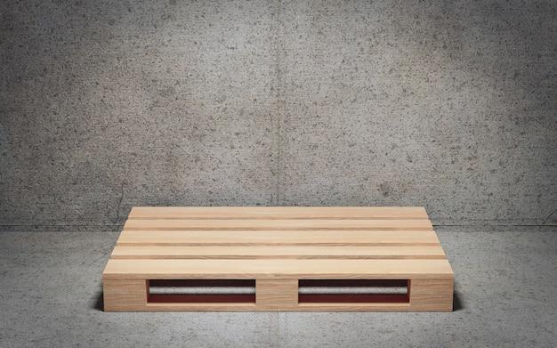 Paleta de madera vacía