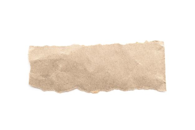 Palillo reciclado del arte de papel en un fondo blanco.