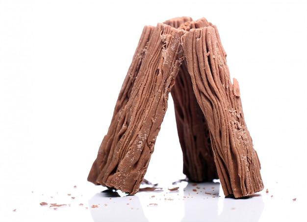 Palitos de chocolate fresco