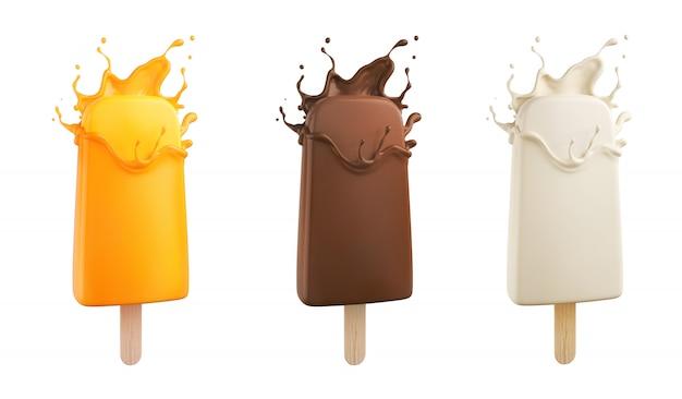 Palitos de helado.