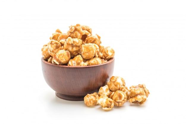 Palomitas de maíz con caramelo