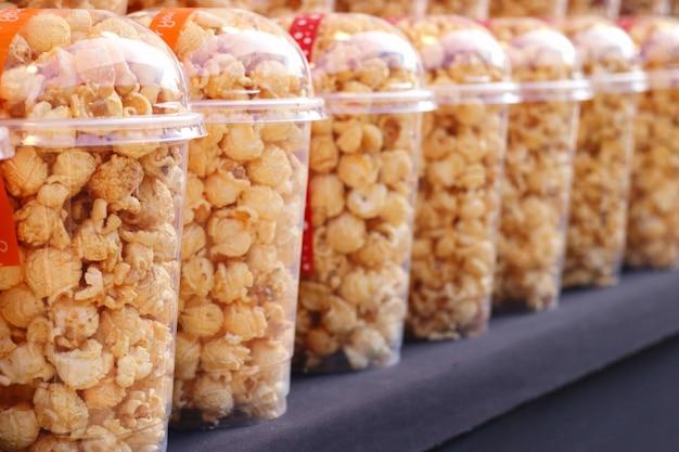 Palomitas de maíz en el mercado