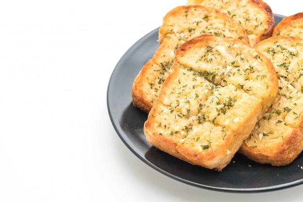 Pan de ajo sobre fondo blanco
