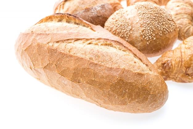 Pan de croissant de mantequilla francés y panadería