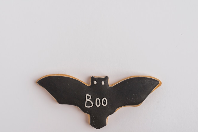 Pan de jengibre de murciélago de halloween
