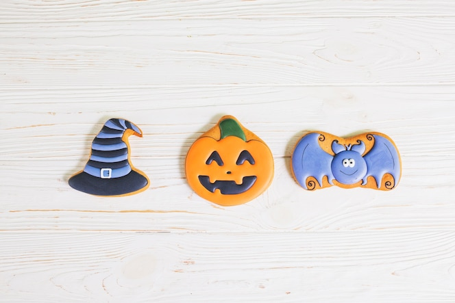 Pan de jengibre divertido de halloween