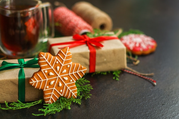 Pan de jengibre. regalos y vacaciones