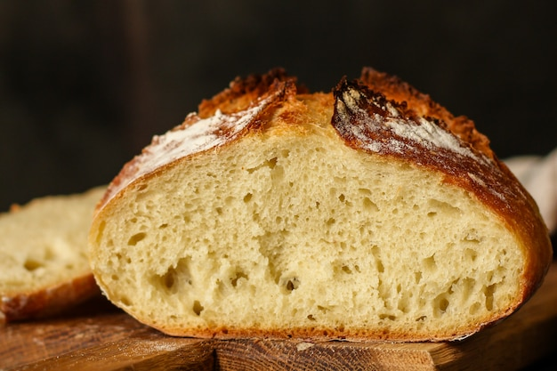 Pan - pasteles sabrosos recién horneados