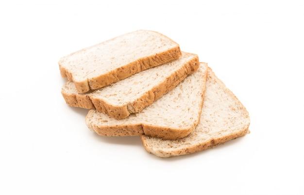 Pan de trigo integral en blanco