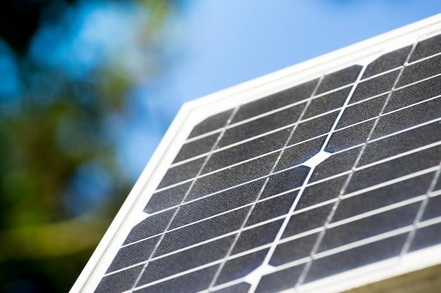 Panel de células solares, ecología energía verde.