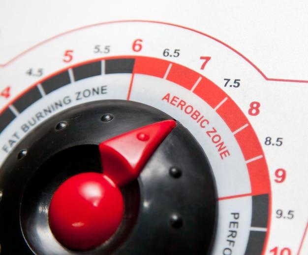 Panel de control detalle de cinta de correr.
