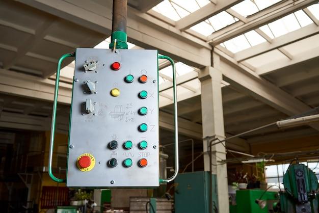 Panel de control de la máquina vieja