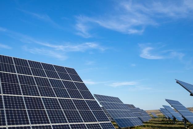 Panel de energía solar. concepto de energía solar alternativa.