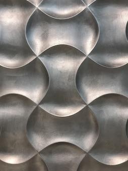 Panel de pared decorativo interior plateado 3d con fondo de forma geométrica inusual