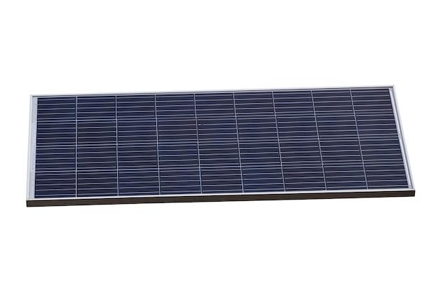 Panel solar aislado sobre un fondo blanco. fuentes de energía alternativas. foto de alta calidad