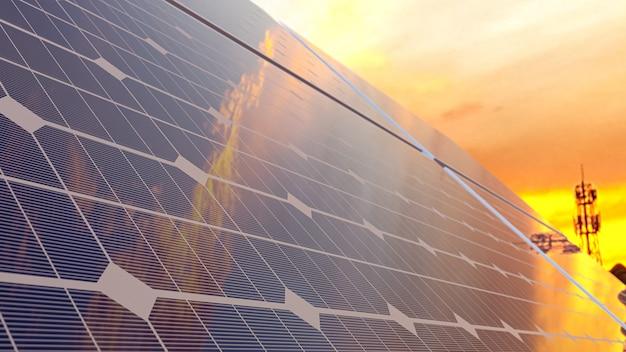 El panel solar el día en que el cielo era como una llama.