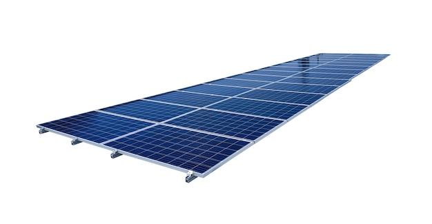 Paneles solares aislados en blanco para el concepto de energía solar