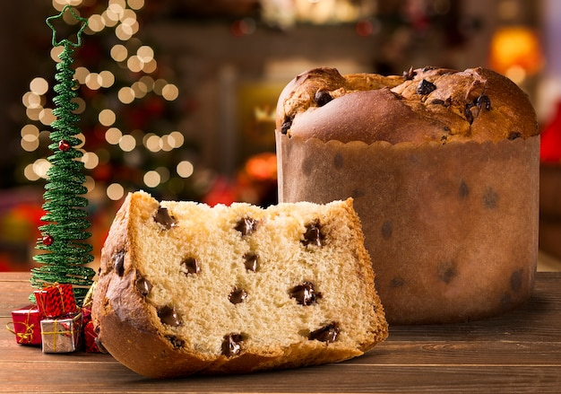 Panettone es el postre tradicional italiano para navidad.