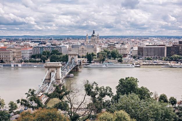 Panorama de budapest, hungría