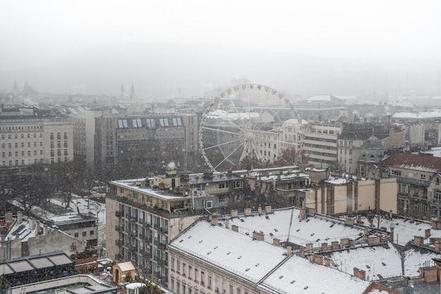 Panorama de budapest en invierno