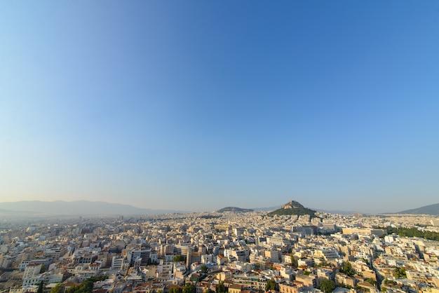 Panorama de la ciudad en la colina de licabeto