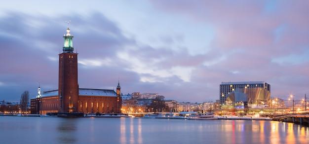 Panorama de la ciudad de estocolmo
