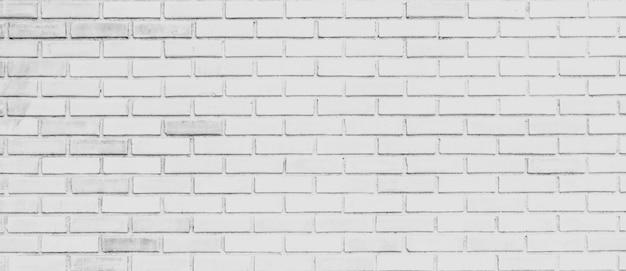 Panorama de fondo de pared de ladrillo blanco y textura