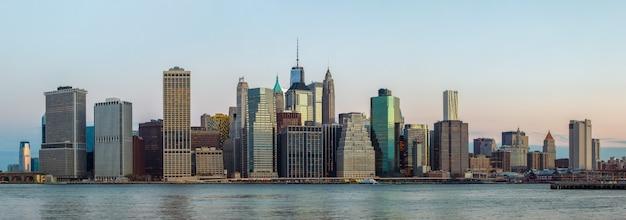 Panorama del horizonte de nueva york