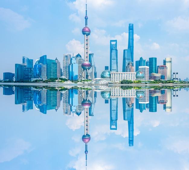 Panorama del horizonte de shanghai