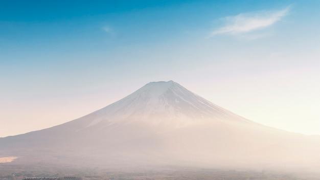 Panorama de la montaña fuji, japón