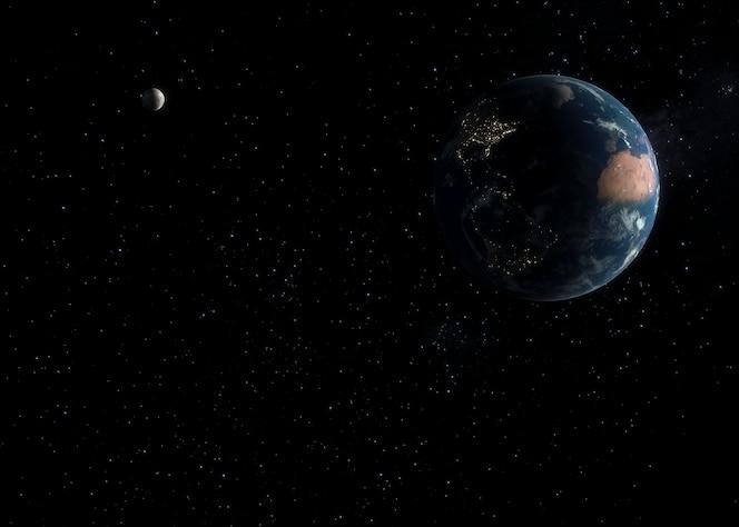 panorama nocturno de la galaxia