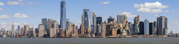 Panorama del paisaje urbano de nueva york