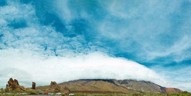 Panorama del parque nacional del teide, tenerife, españa.