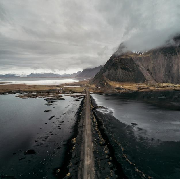 Panorámicas islandesas, vista aérea de las tierras