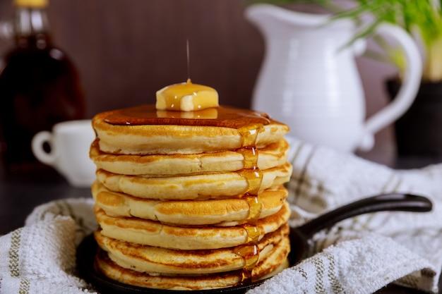 Panqueque un delicioso jarabe de desayuno.