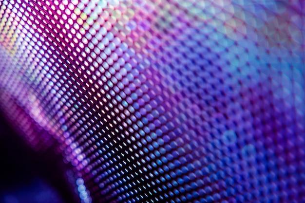 Pantalla borrosa led de primer plano. fondo abstracto ideal para el diseño.