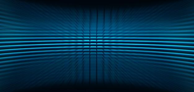 Pantalla de cine azul led para presentación de películas.
