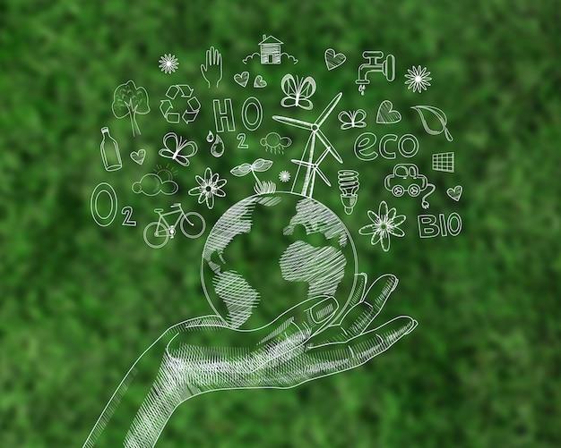 Pantalla digital con día del medio ambiente