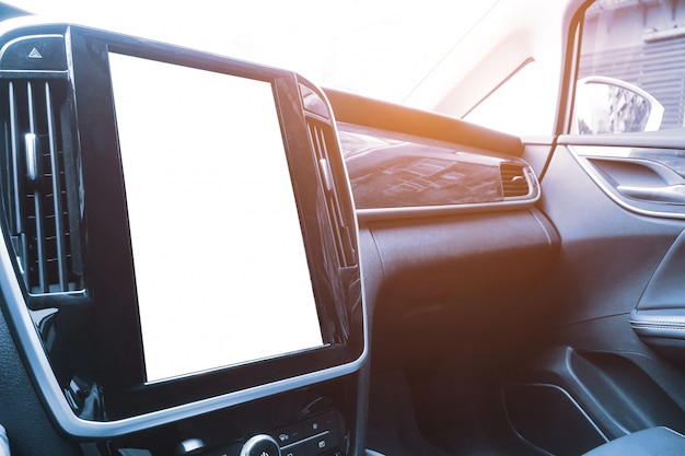Pantalla de pantalla grande de radar de video de marcha atrás del coche