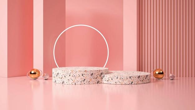 Pantalla de podio minimalista moderna. ilustración 3d
