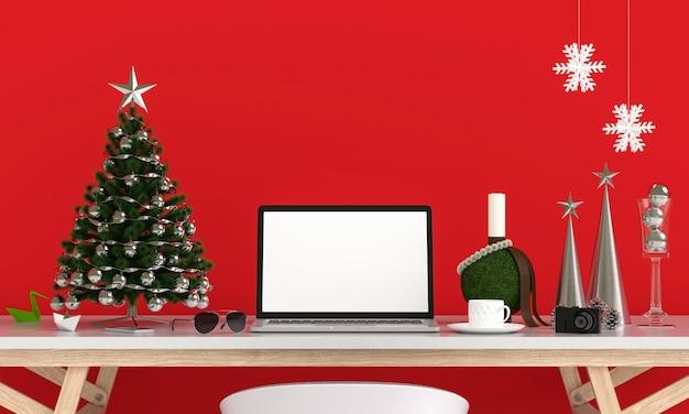 Pantalla portátil para maqueta, concepto de navidad