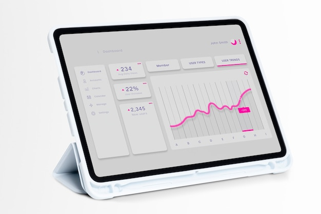 Pantalla de tableta digital tecnología inteligente