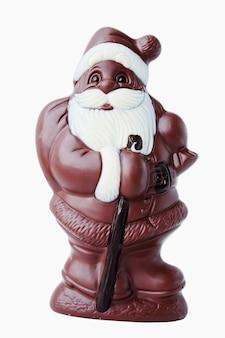 Papá noel de chocolate con bolsa de regalos