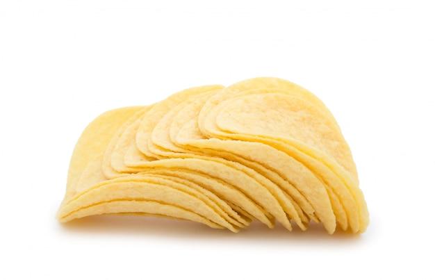 Papas fritas en blanco