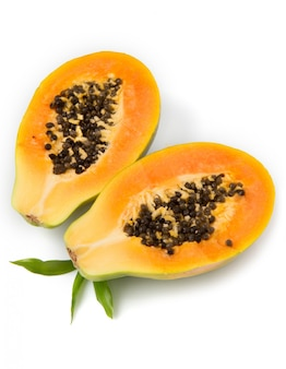Papaya medio corte