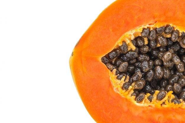 La papaya sabroso de color jugosa madura