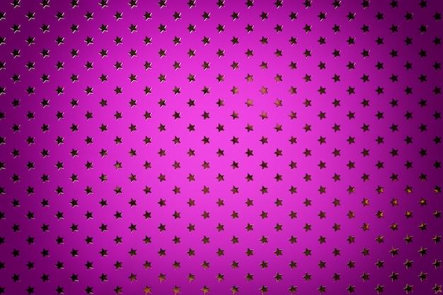 Papel de aluminio de color violeta claro con patrón de estrellas doradas